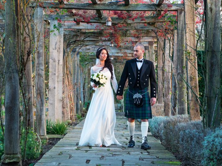 Wedding dress elegance for a winter wonderland scottish for Scottish wedding guest dress