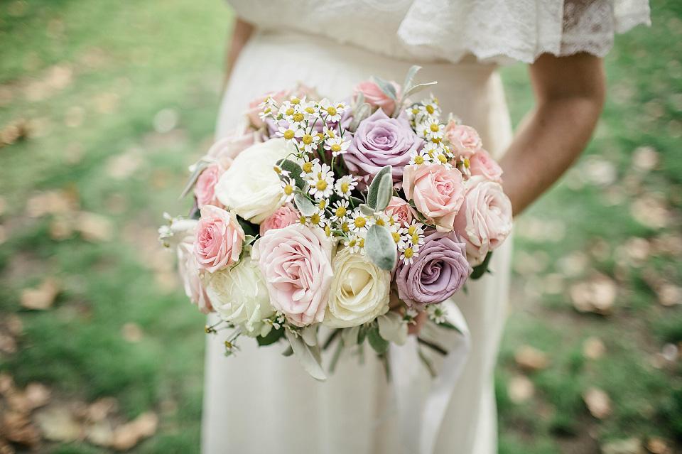 A Pretty Eco Friendly Wedding Dress For A Pregnant Bride