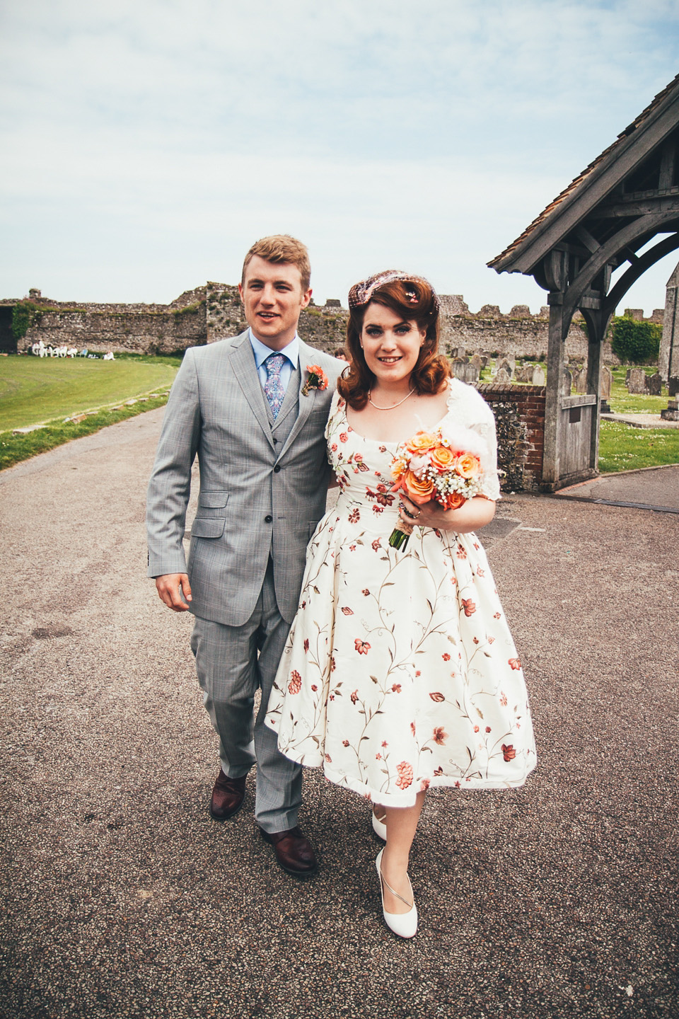 A 50 S Floral Style Wedding Dress For A Retro Inspired Memorial