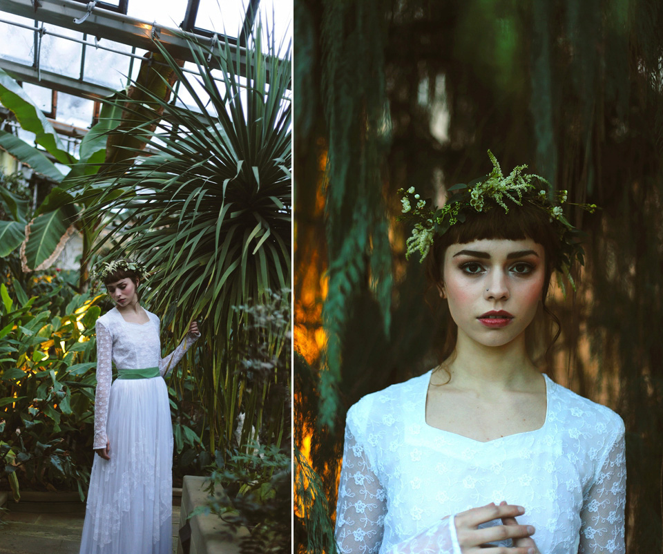 Vintage Wedding Dresses Richmond Va: Ethereal And Elegant Botanical Winter Wedding Style