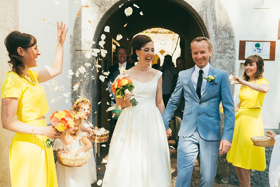 A Colourful Sorrento Wedding With A Touch Of Oleg Cassini