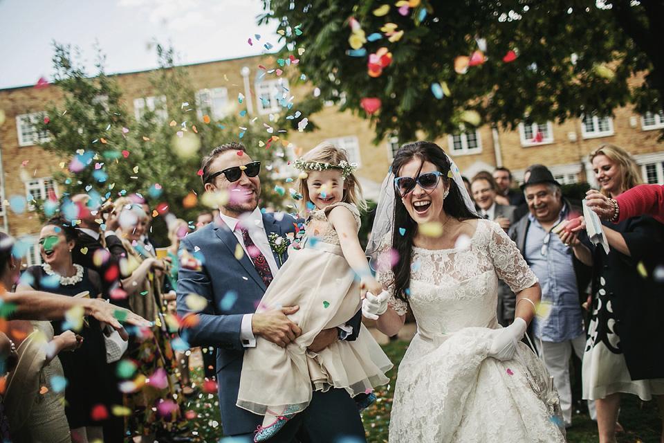 fabulous vintage bride, 1960s inspired wedding, proud cabaret brighton, dragan zlataonic photography