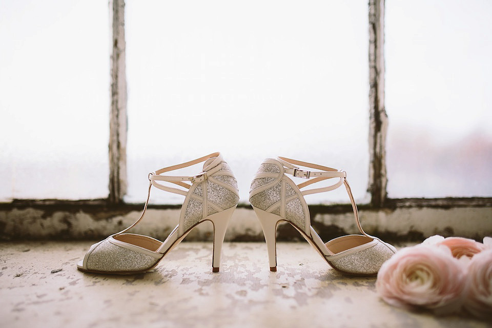 fbcc1d9be3f0 wpid Charlotte Mills wedding shoes - A Silver Sixpence in her Shoe - First  Look at ...