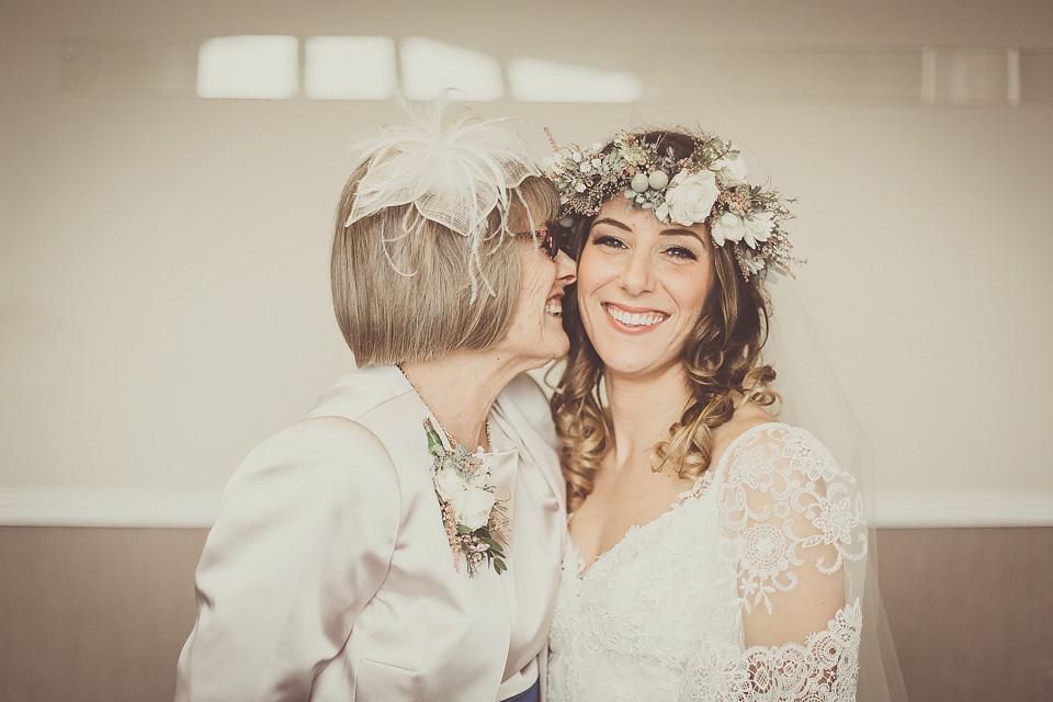 Yolancris For A Boho Bride And Her Laid Back Winter Barn Wedding