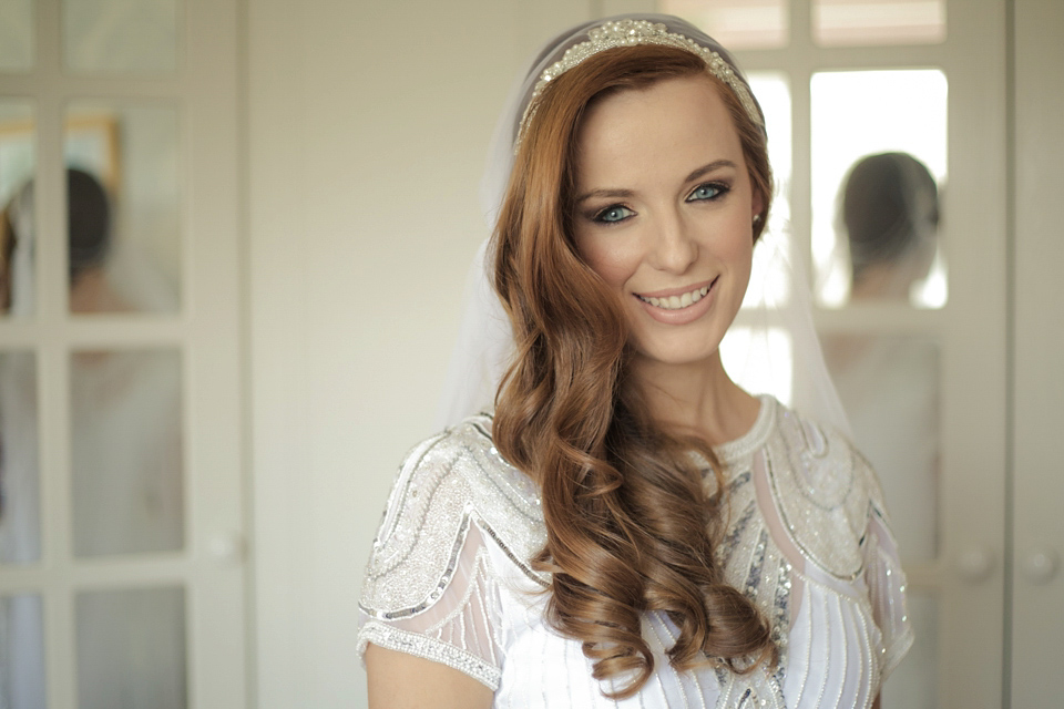 Vicky Rowe 1920s Inspired Wedding Dress Glamour And A Juliet Cap