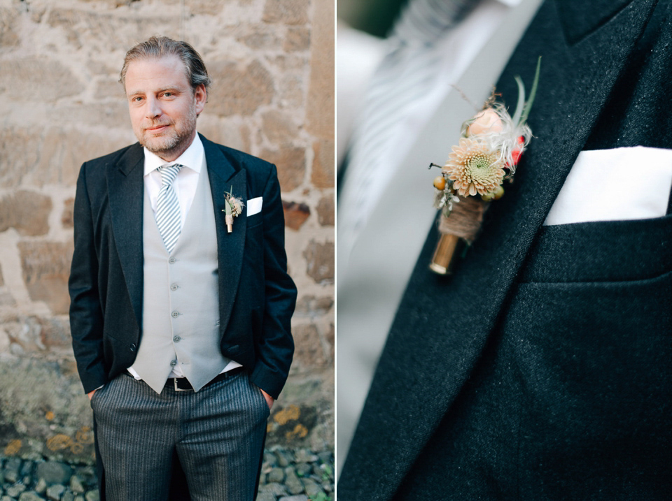 wpid anna kara gown peach castle wedding  - Anna Kara Lace and Peach Pretty For An Elegant Castle Wedding