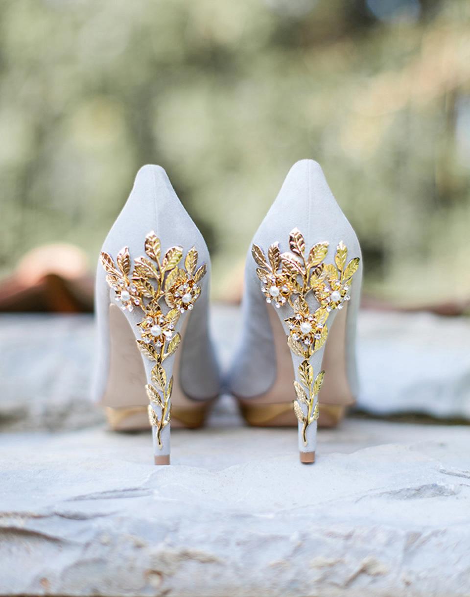 Wpid Bridgette Grey Gold Wall Lr Harriet Wilde Elegant Wedding Shoes And Exquisite Statement