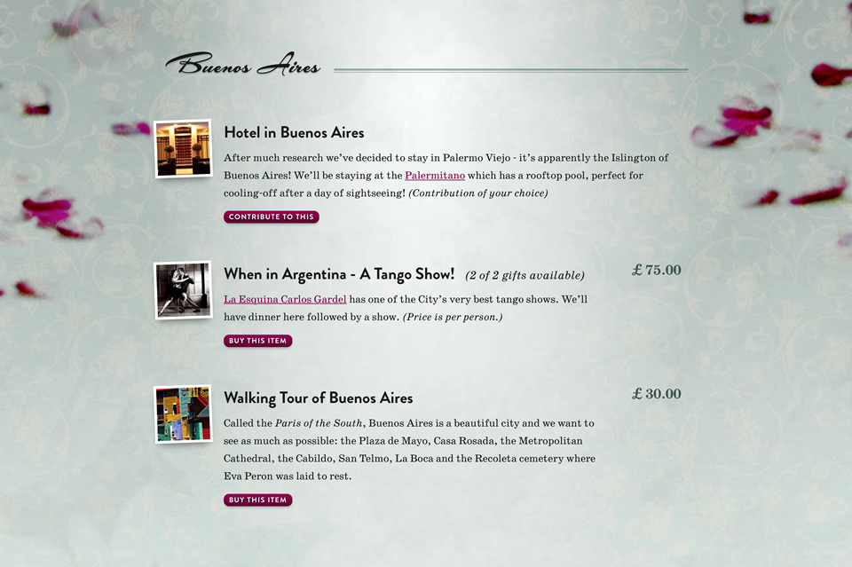introducing buy our honeymoon the alternative wedding gift list