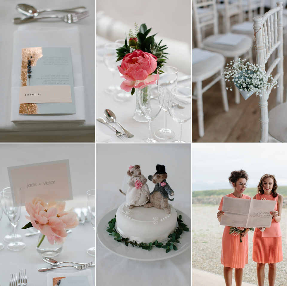 A 1940s Vintage Gown And Shades Of Coral For An Elegant