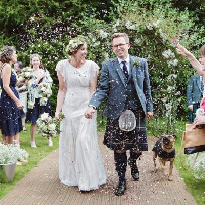 A Beautiful Belle & Bunty Dress and 1000 Paper Cranes for a Guardian Soulmates Wedding
