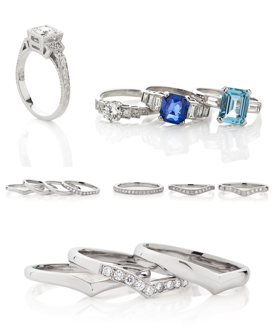 Beautiful Vintage Inspired Engagement & Wedding Rings From