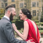 A Red Silk Amanda Wakeley Dress for an Oscars Glamorous Inspired Tinder Wedding