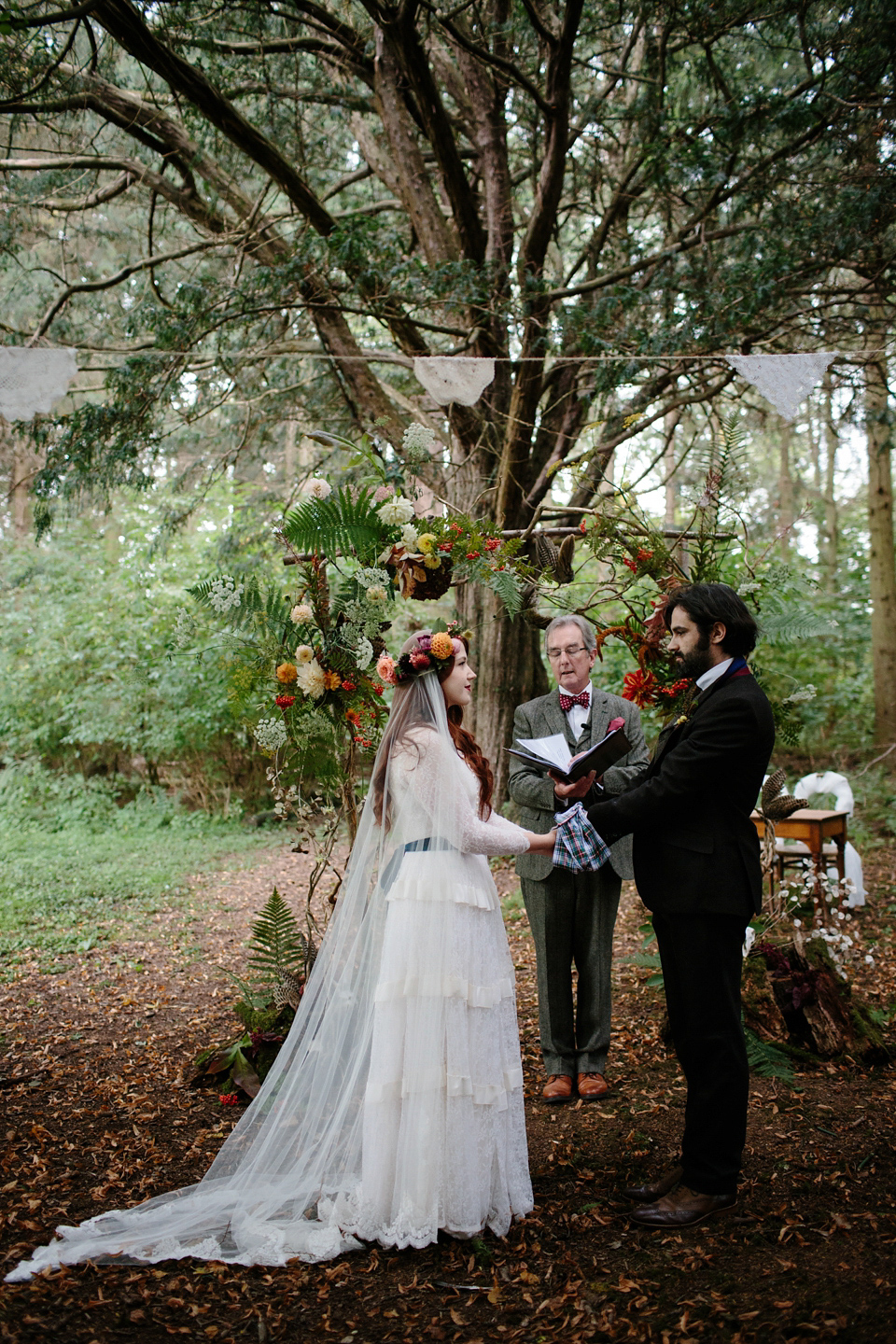 A Humanist Woodland Wedding For An Ethereal Flame-Haired ...