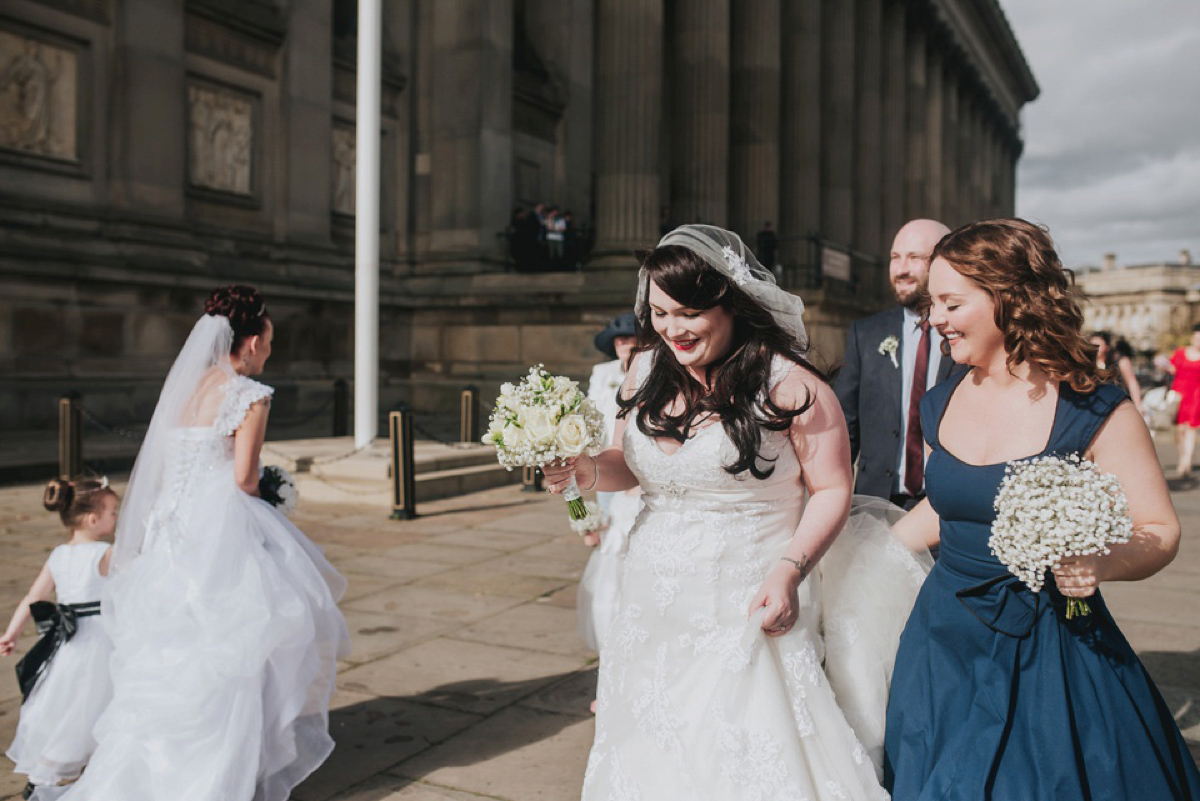 A Juliet Cap Veil And Red Lipstick For A Quirky Vintage