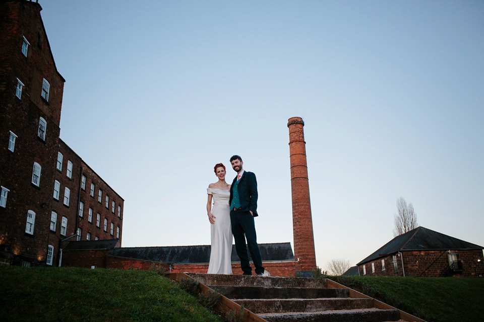 An industrial and geometric inspired wedding in Scotland. Photography by Caro Weiss.