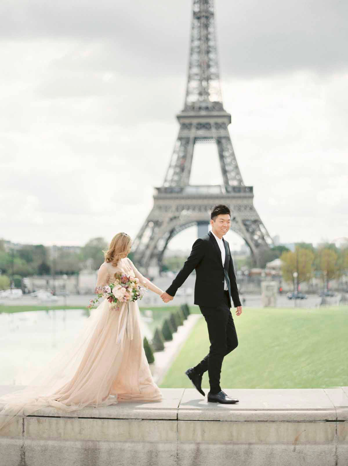 A Dreamy Engagement Shoot in Paris Shot On Film | Love My