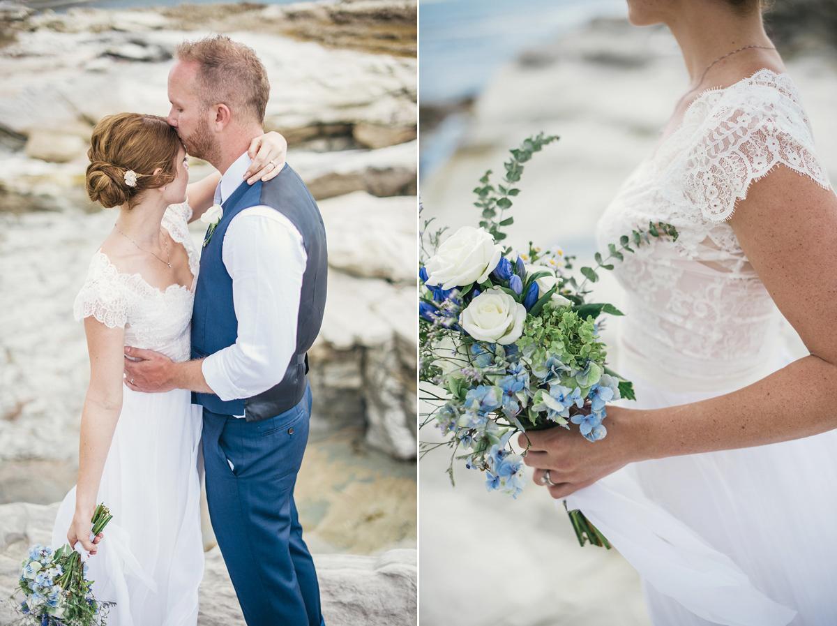 Simple Wedding Dresses Nz: A Beautiful Blue Ombre Wedding Dress For A Barefoot Beach