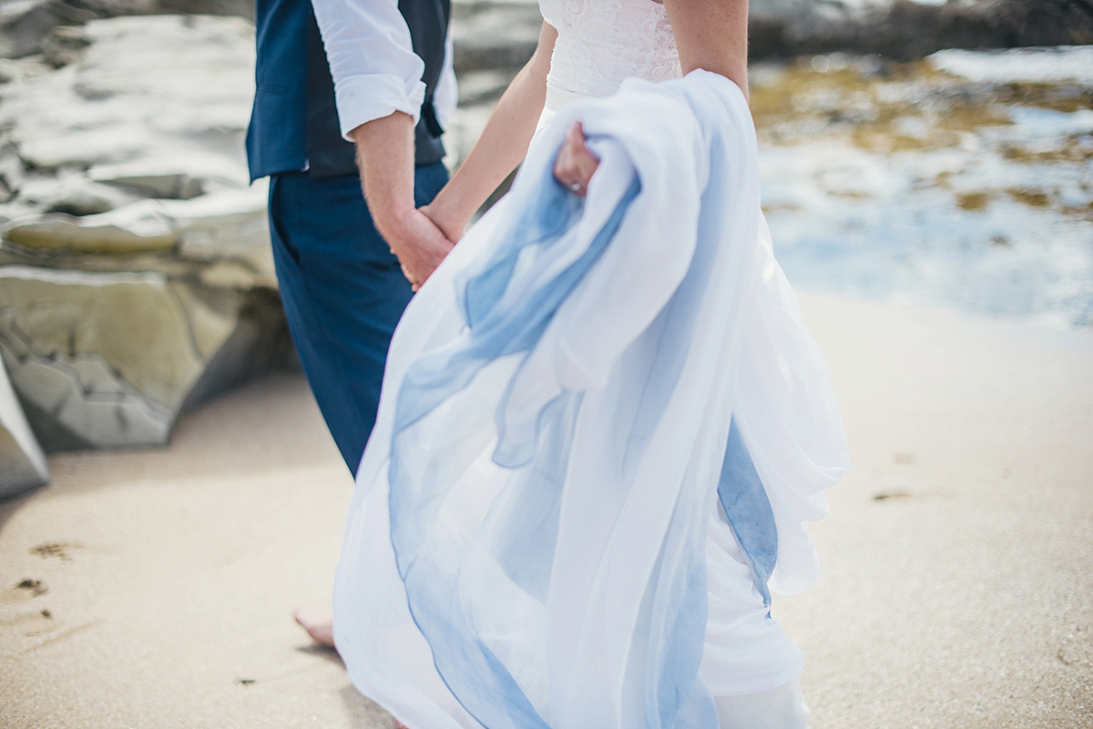 Watch - Wedding Blue dress beach pictures video