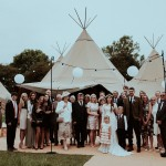 Floral Crowns And PapaKåta Teepees For A Festival Style Wedding In North Yorkshire