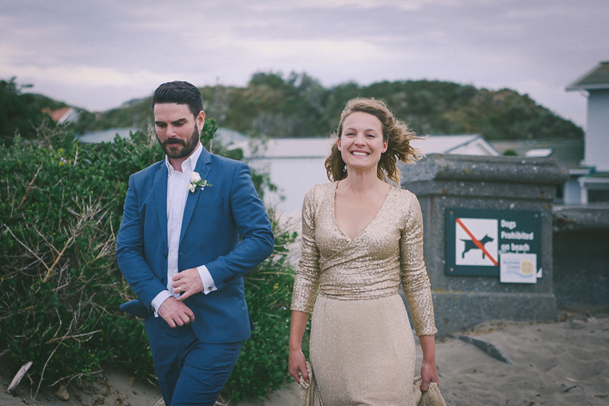 wpid gold sequin wedding dress  - A Glamorous Gold Sequin Dress for a Relaxed and Fuss Free and Handmade Seaside Wedding