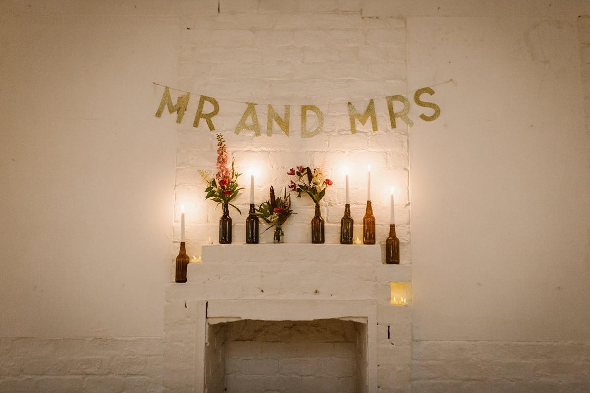 A For Love & Lemons Dress for a Modern Warehouse Wedding | Love My