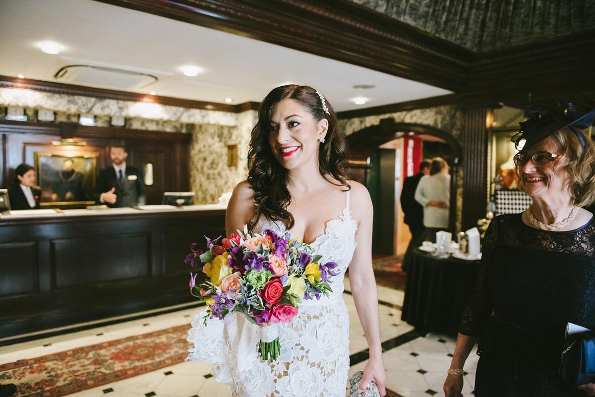 "f42b83790a46 wpid catherine deane dress london bride - A Catherine Deane dress for a  Fun-Filled. """