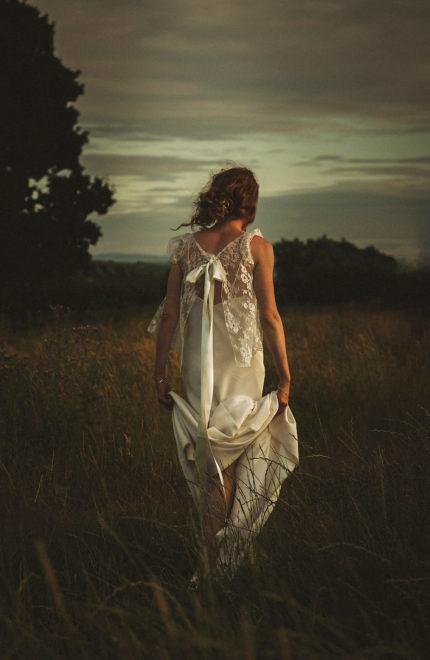 Boho Wedding Dress West Midlands : Bespoke lace dress for a handmade and romantic summer barn wedding