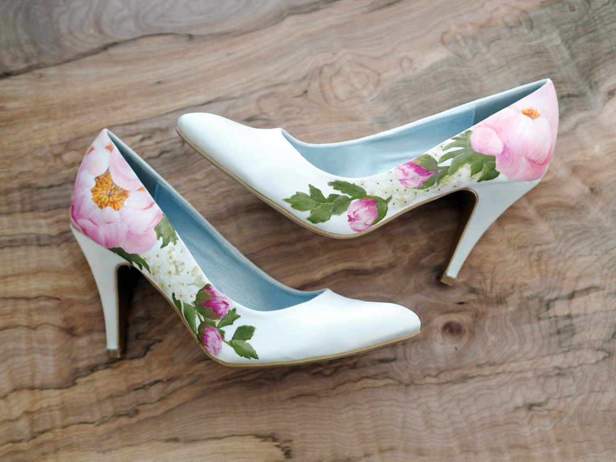 83f60a93d64b4 Hand-Painted Wedding Shoes by Elizabeth & Rose   Love My Dress® UK ...