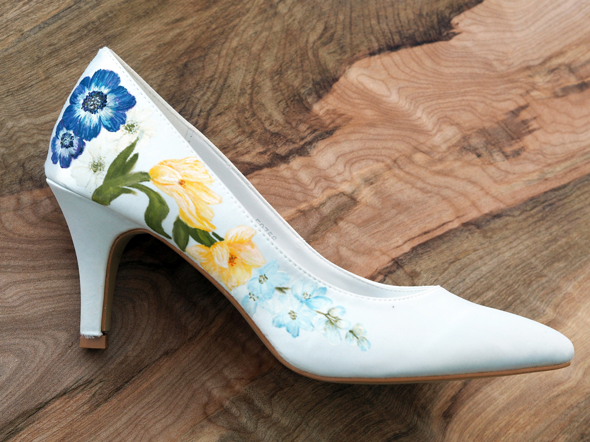 449525faa7f Beautiful hand-painted wedding shoes by Elizabeth   Rose