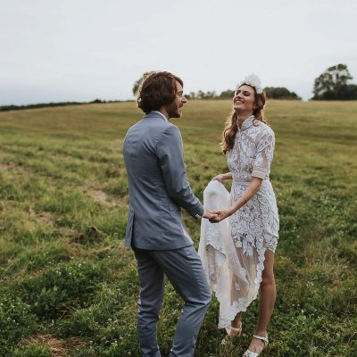 A Hermione de Paula Gown for an Eccentric English and Victorian Botanical Inspired Wedding