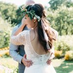 Anna Kara Lace and Flowers in her Hair for a Romantic Chinese-Irish Wedding