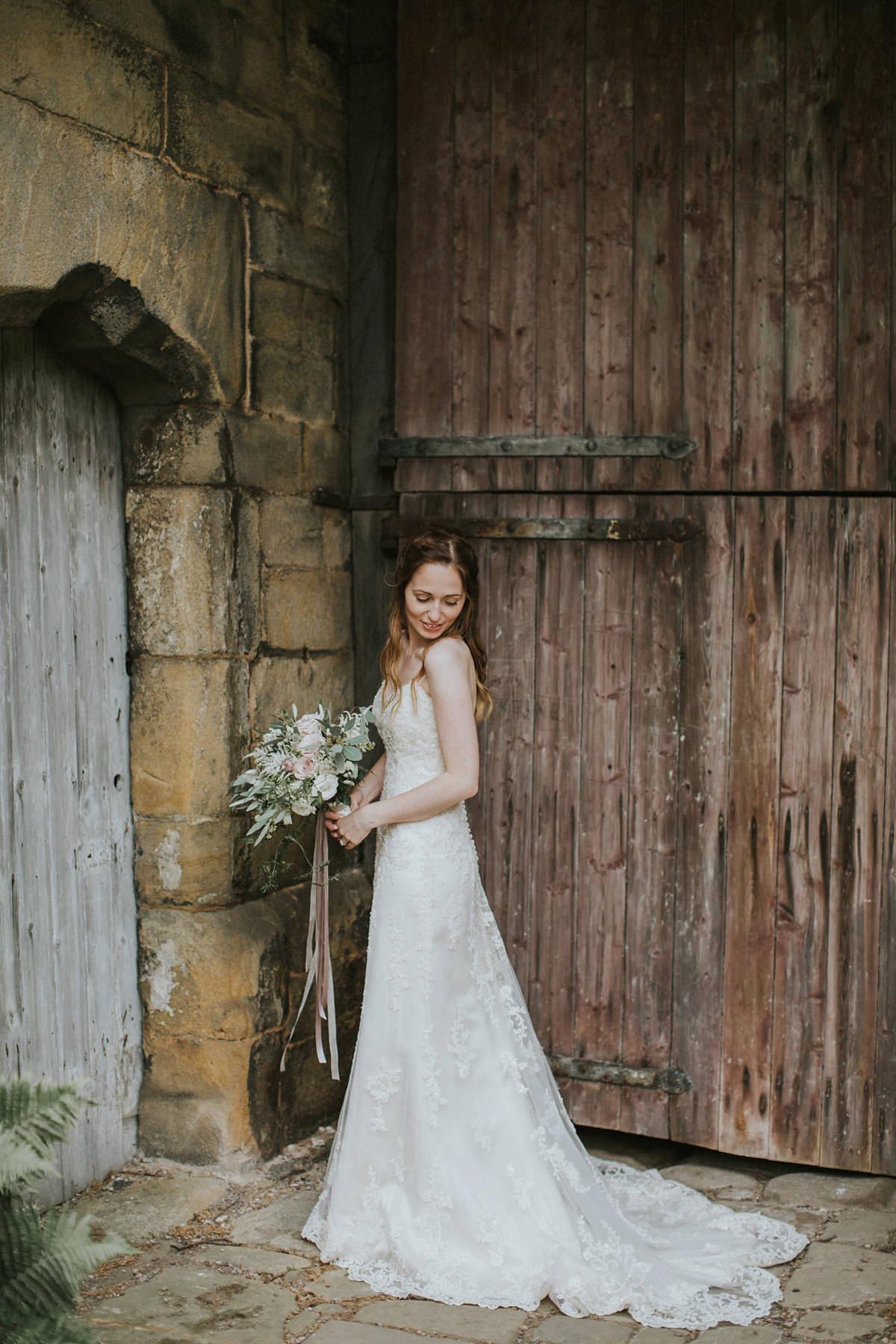 """34f1e273bbac ... maggie sottero fairylights barn wedding - Maggie Sottero for a  Fairylight Filled, Rustic and Natural. """""""