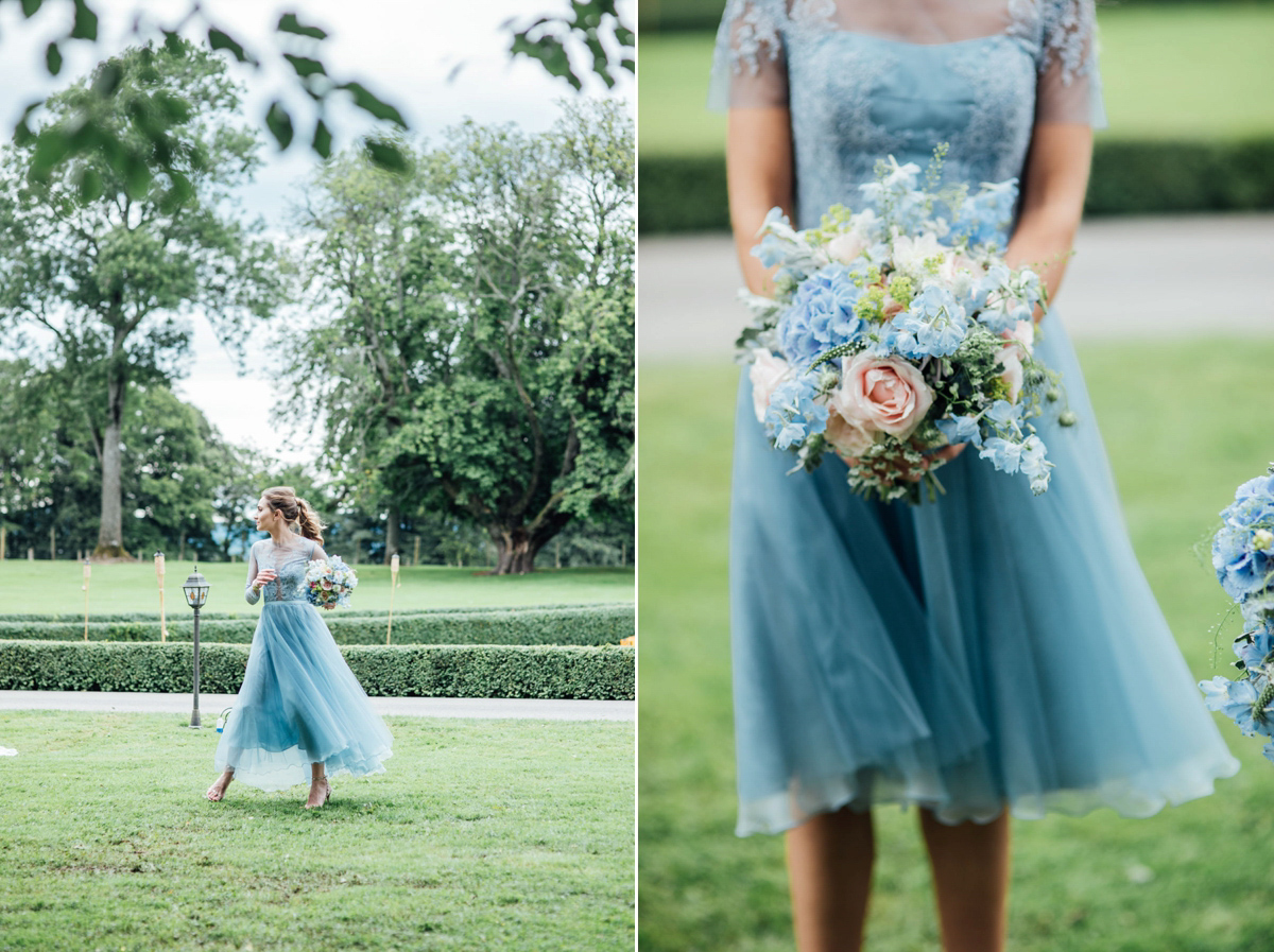 948a3955297 pale blue vera wang walled garden wedding - A Vera Wang Gown for a Whimsical  and ...