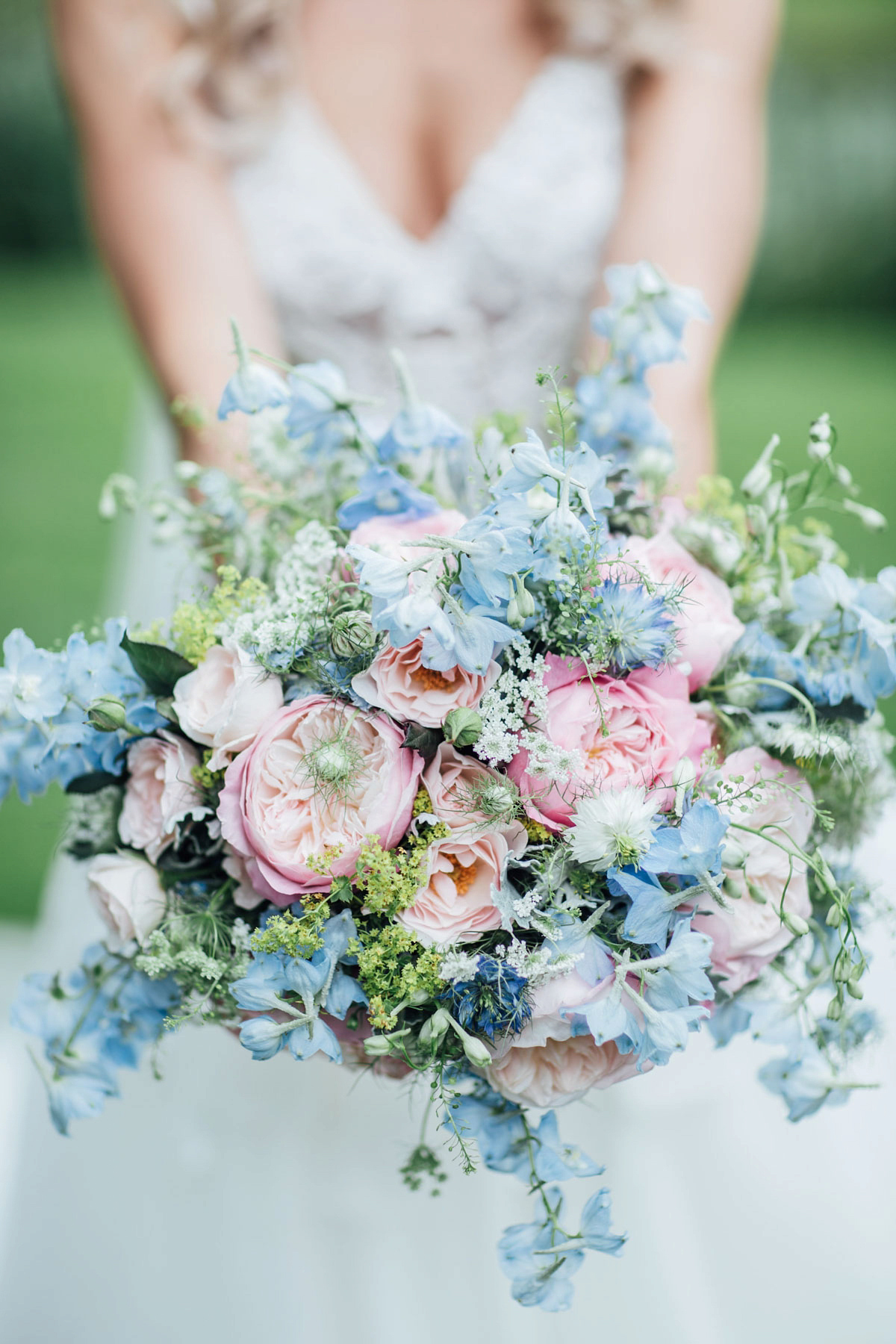 e57fb5468967 ... pale blue vera wang walled garden wedding - A Vera Wang Gown for a  Whimsical and ...