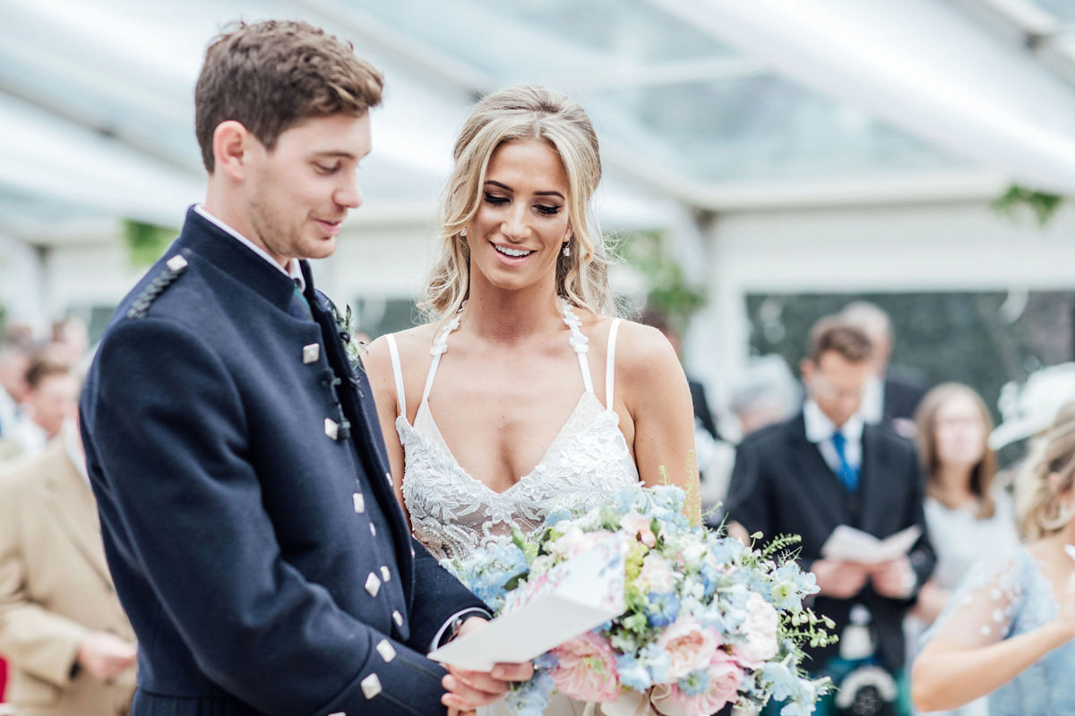 1145b8c7bde ... pale blue vera wang walled garden wedding - A Vera Wang Gown for a  Whimsical and ...