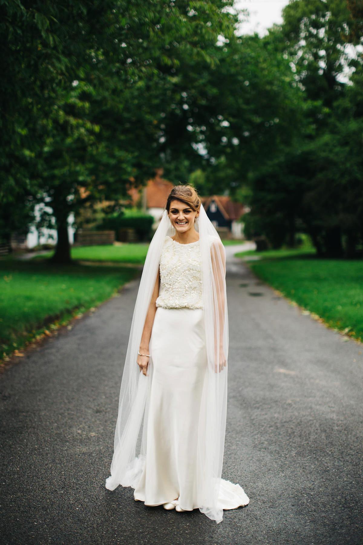 32a231bf4 ... ritva westenius back garden wedding at home - A Ritva Westenius Gown  for a Glamorous Black ...