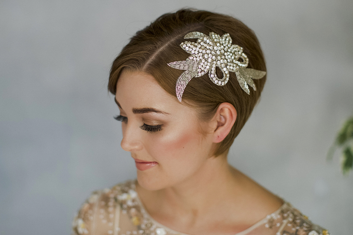 ea9a07152b605 How To Style Wedding Hair Accessories With Short Hair | Love My ...