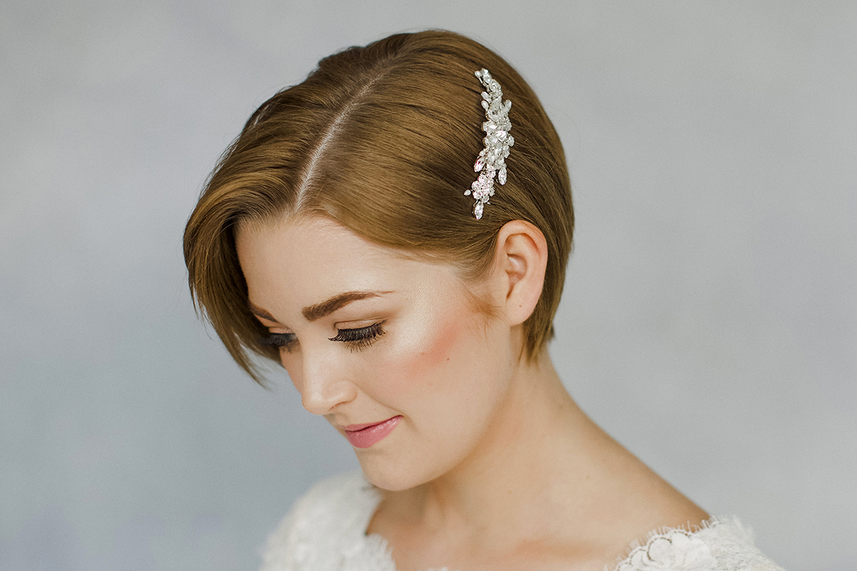 how to style wedding hair accessories with short hair | love my
