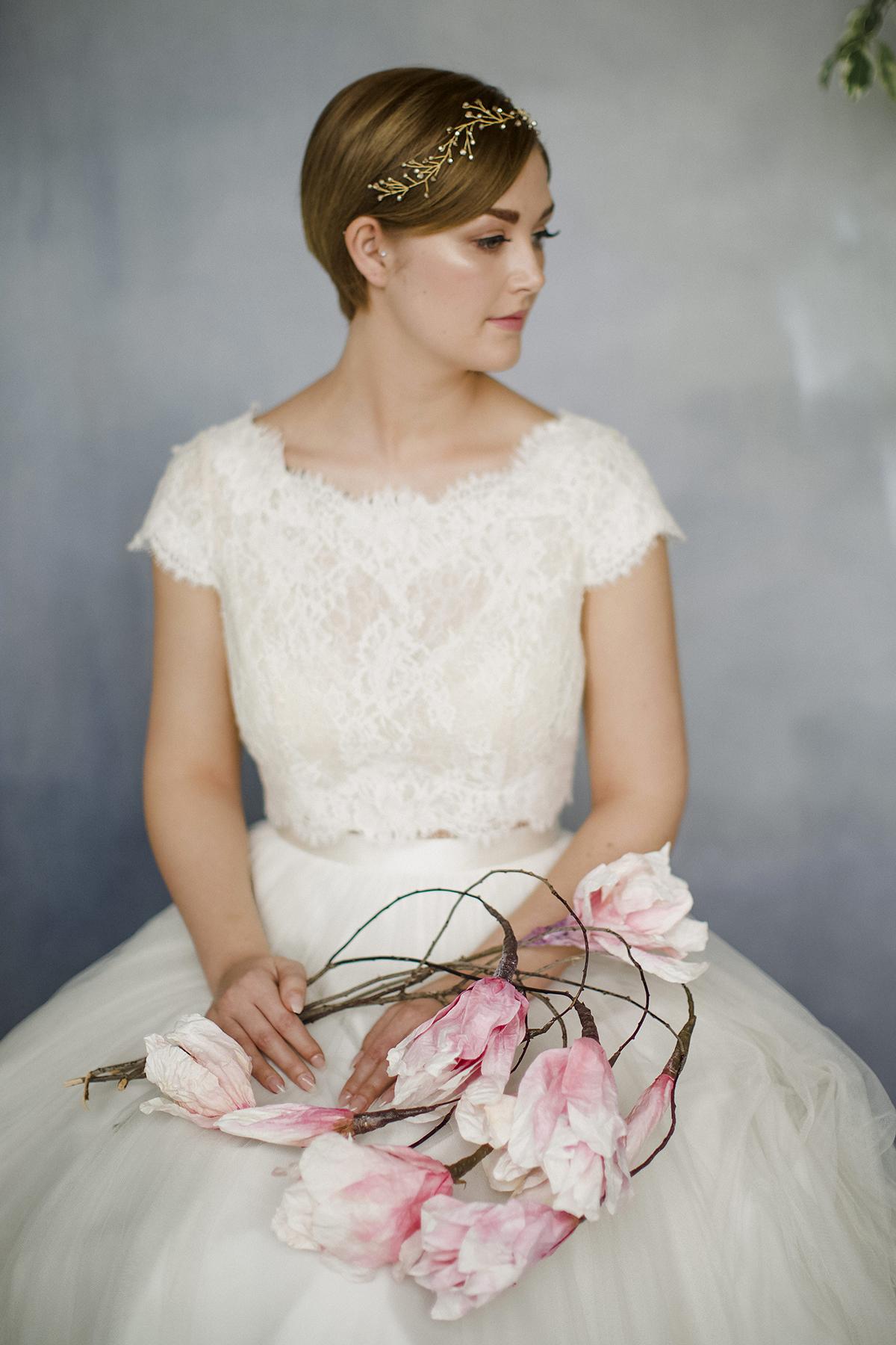Short Hair for Wedding Dress