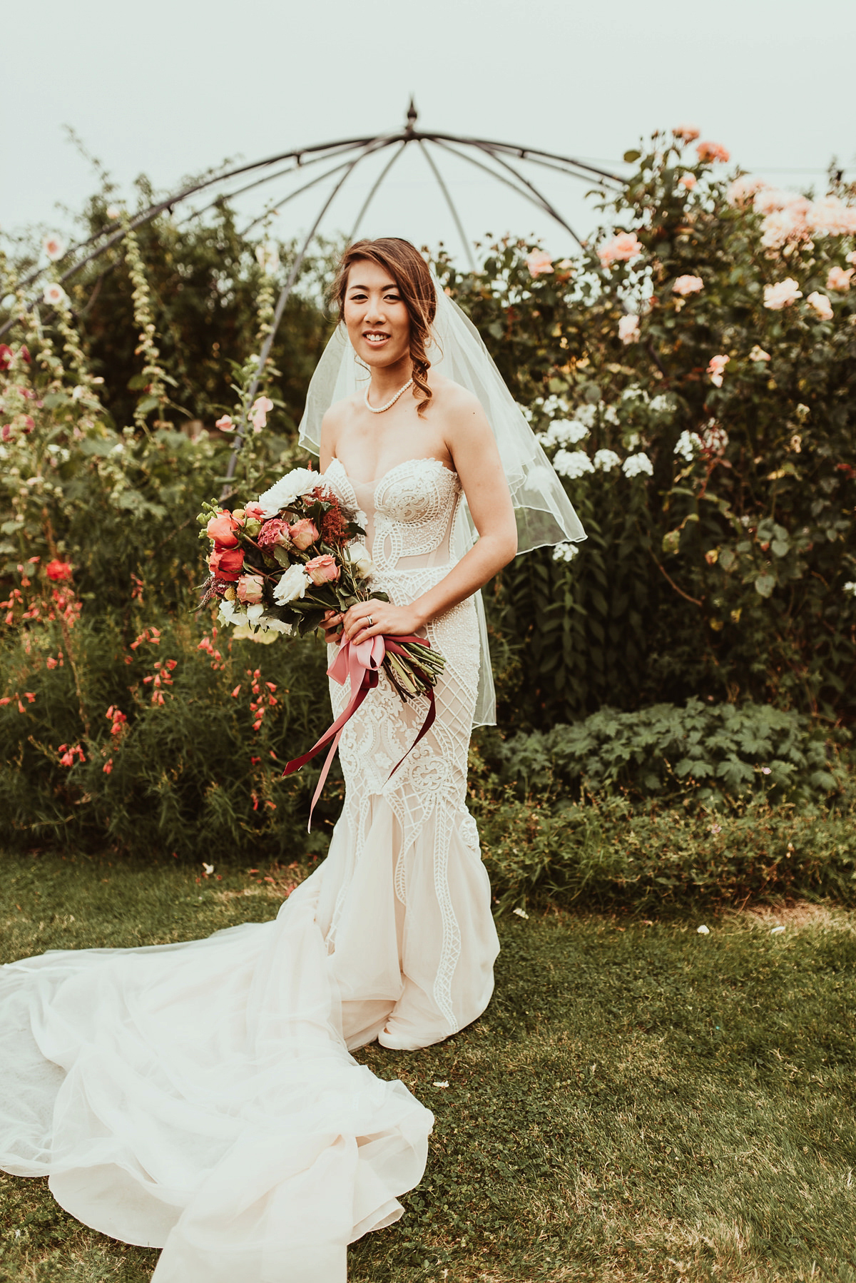 fe9fa6a09d2 ... fun colourful non traditional summer wedding - A Pallas Couture Bridal  Gown for a Fun and ...