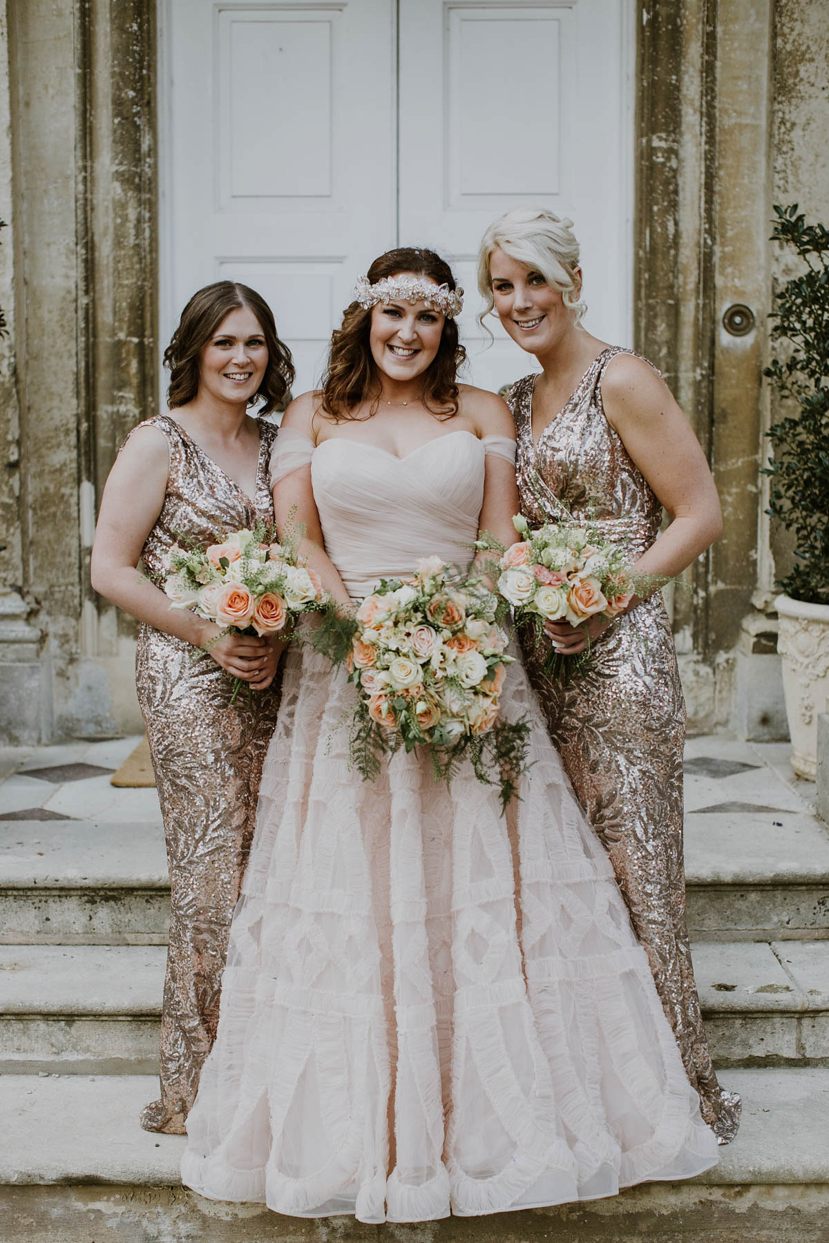 A Blush Pink Watters Wedding Dress And Laid Back Glamour Love My