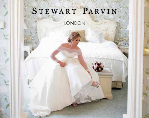 Stewart Parvin b - A Sassi Holford Gown for an Elegant and Edgy Black Tie Wedding