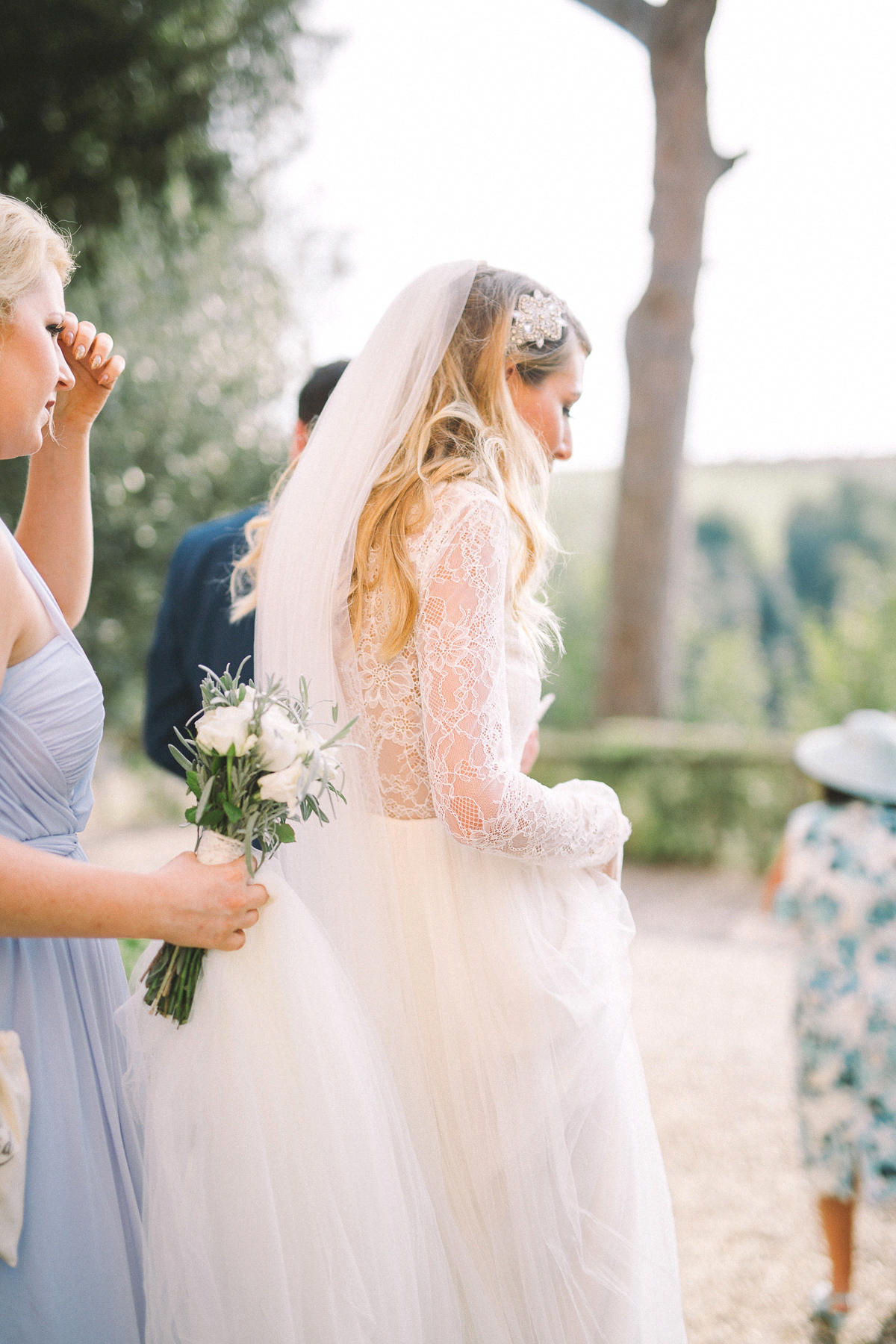 """8124d04cecc0 ... fine art elegant boho romantic italy wedding - A Long Sleeved Lace  Dress for a Relaxed. """""""