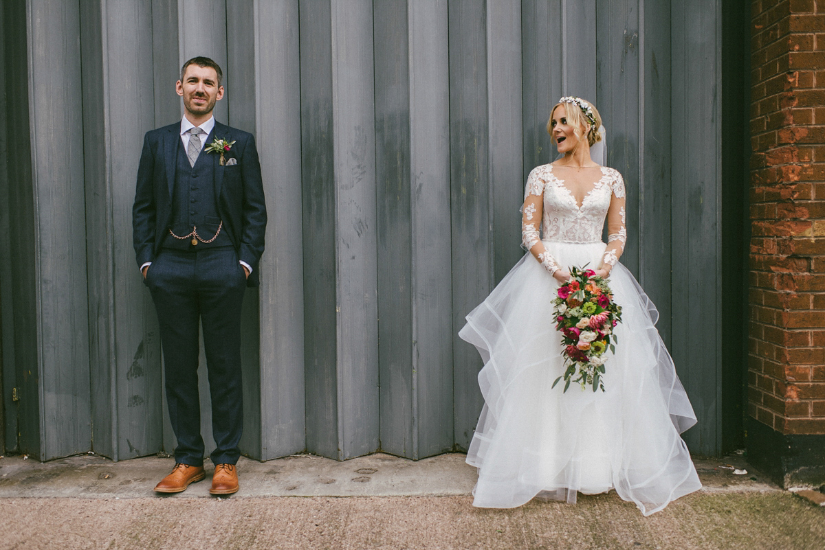 A Hayley Paige Dress For A Colourful Spanish Inspired City Wedding ...