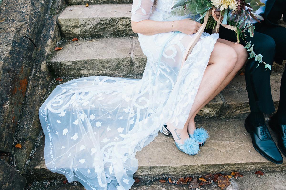 79e82e97330c ... hermione de paula bride - A Hermione de Paula Embroidered Gown for a  Celestial Inspired Country ...
