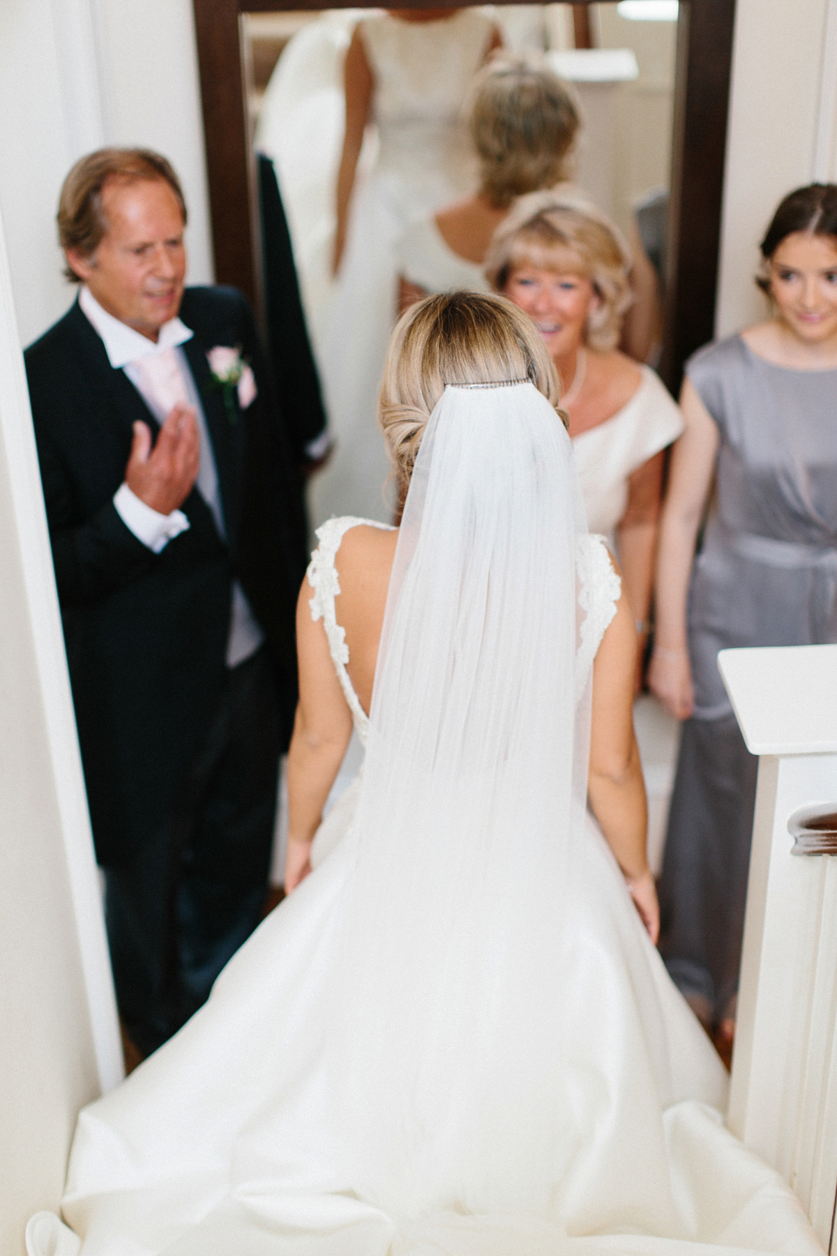 9209813948cf ... pronovias dress northumberland wedding - A Pronovias Bride and her  Clean, Simple and Chic Country ...
