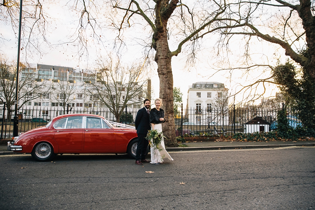 london winter wedding  - A Top Knot And Berry Lip For A Sparkling Winter Wedding In London