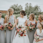 A 50's Inspired Boatneck Gown For an Elegant Spring Wedding