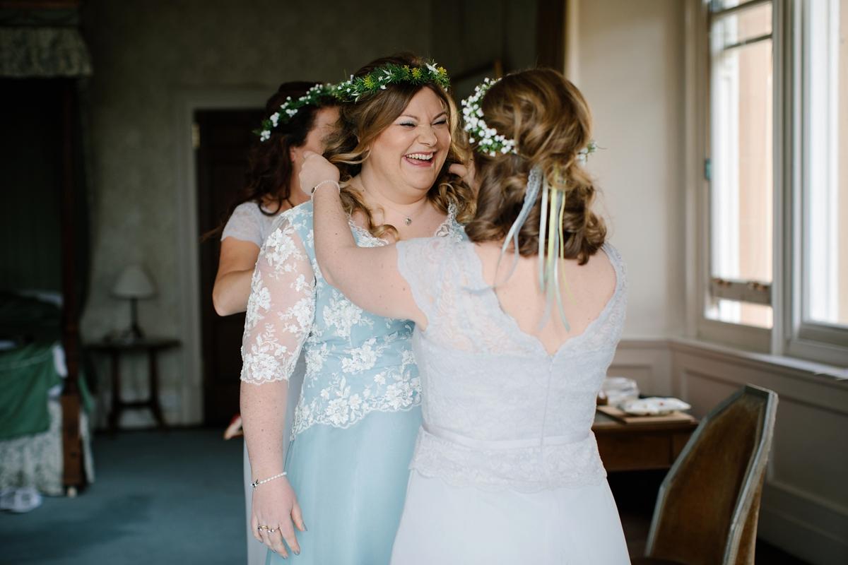 Blue Scottish Wedding Dress