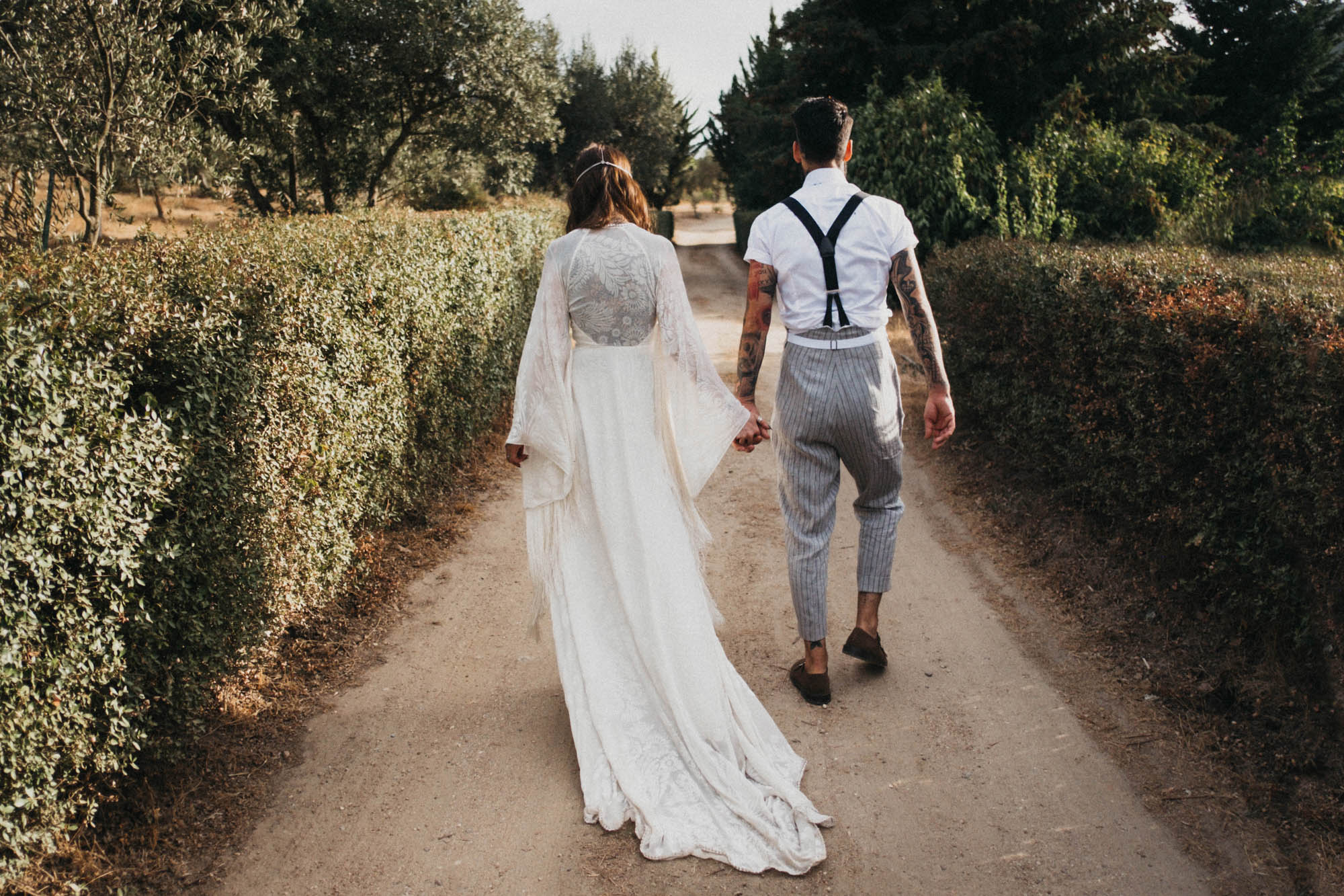 ddcafbe7594 A Tasseled Rue de Seine Gown for a Free Spirited and Bohemian Wedding in  Portugal